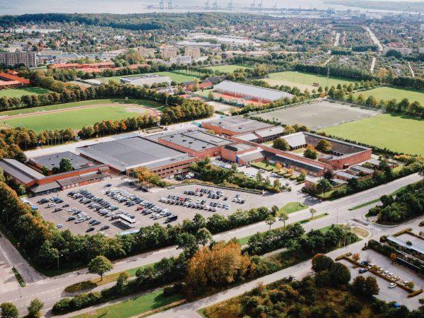 Idrætshøjskolen Aarhus fra luften